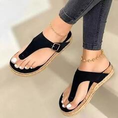Bayanlar PU Düz topuk platform Peep Toe Parmak arası terlik Terlik Ile Oymak Katı Renk ayakkabı