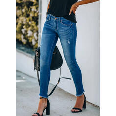 Plus Size Tassel Elegant Sexy Denim & Jeans