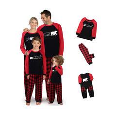 Bear Xadrez Família Combinando Natal Pijama