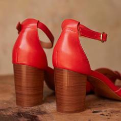Dla kobiet PU Obcas Slupek Sandały Czólenka Obcasy Z Klamra obuwie
