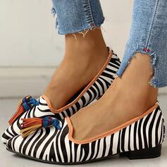 Femmes Suède Talon bottier Chaussures plates bout rond avec La copie Animale chaussures