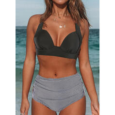V шеи Без бретелек сексуальный Большой размер Выделяющийся Bikinis купальников