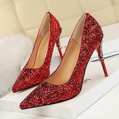 Kvinnor Glittrande Glitter Stilettklack Pumps med Glittrande Glitter Smycken Heel skor