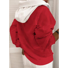 Color Block Animal Print Long Sleeves Christmas Sweatshirt