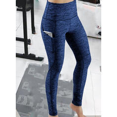 Solid Patchwork Sexy Sporty Yoga Leggings