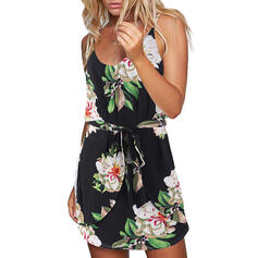 Print/Floral Sleeveless A-line Above Knee Casual/Boho/Vacation Dresses