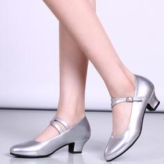 Mulheres sapatos de personagem Saltos Couro com Fivela Latino