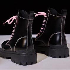 Зашнуровать Сплошной цвет обувь