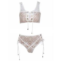 Cintura Alta Correa Sexy Bikinis Trajes de baño