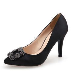 Pentru Femei Mătase ca Satin Toc Stiletto Încălţăminte cu Toc Înalt cu Ştrasuri pantofi