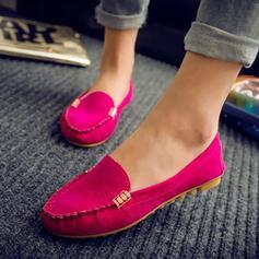 Frauen PU Flascher Absatz Flache Schuhe Round Toe Schuhe