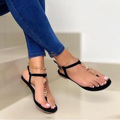 Dla kobiet PU Płaski Obcas Sandały Plaskie Japonki Z Byszczący brokat Jednolity kolor obuwie