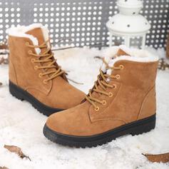 De mujer Ante Tacón bajo Botas de nieve Botas de invierno con Cordones zapatos