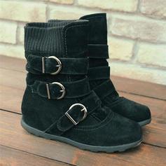 Pentru Femei PU Fară Toc Cizme Botine Cizme de Iarnă Cizme de iarna cu Cataramă pantofi