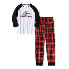 Renkli klişe Carouri Aile Eşleşen Noel Pijamaları