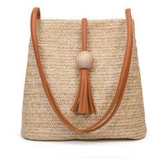 Солома Сумки через плечо/Наплечные сумки/Пляжные сумки/Сумки для ковшей
