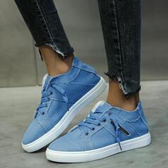 Női Vászon Alacsony felső cipők -Val Lace-up cipő