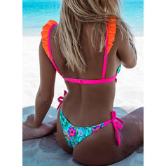 Kwiatowy Niski stan W prążki Seksowny Ładny Bikini Stroje kąpielowe