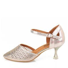 De mujer Ballet Danza latina zapatos de personaje Sandalias Cuero zapatos de personaje