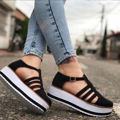 Pentru Femei Piele de Căprioară călcâi plat Balerini Închis la vârf Deget rotund cu Cataramă pantofi