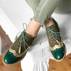 Femmes Similicuir Talon plat Chaussures plates avec Dentelle Semelle chaussures