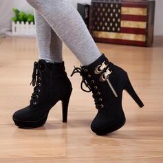 Vrouwen PU Stiletto Heel Laarzen met Ribbon Tie schoenen