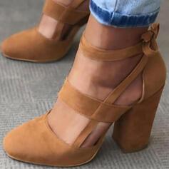 Dla kobiet Skóra ekologiczna Obcas Slupek Czólenka Z Sznurowanie obuwie