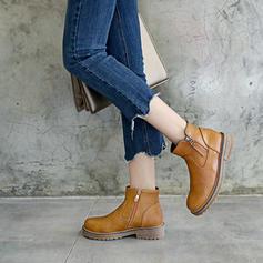 Pentru Femei Imitaţie de Piele Fară Toc Platformă Cizme Botine pantofi