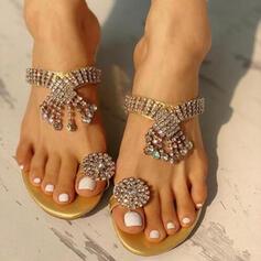 Pentru Femei PU Fară Toc Sandale Balerini Şlapi Inel pentru degetul de la picior cu Ciucure pantofi