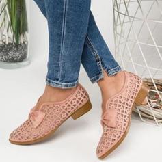Dla kobiet PU Płaski Obcas Plaskie Z Kokarda Tkanina Wypalana obuwie