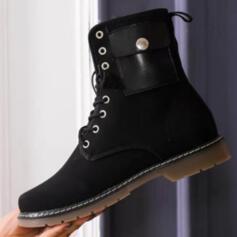 Bayanlar Süet Düz topuk bot ayakkabı Ayak bileği çizmeler Ile Perçin Hayvan baskı Bağcıklı ayakkabı ayakkabı