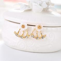 Güzel alaşım Ile Yapay elmas Bayanlar Küpeler