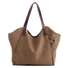 Durable Thicker Canvas Handbag Light Casual Large Capacity Shoulder Bag