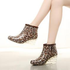 Dla kobiet PVC Obcas Koturnowy Koturny Kozaki Kalosze obuwie