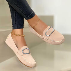 PU Плоский каблук Квартиры Круглый носок Мокасины Slip On с Сплошной цвет обувь
