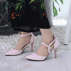 Pentru Femei PU Toc Stiletto Încălţăminte cu Toc Înalt cu Cataramă Blană pantofi