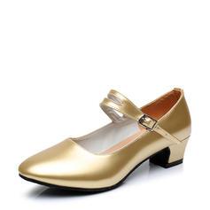 Mulheres Salão de Baile sapatos de personagem Saltos Couro Salão de Baile