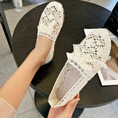 Women's Canvas Flat Heel Flats With Bowknot Hollow-out Others shoes