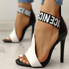 Dámské PU Jehlový podpatek Sandály S otevřenou špičkou obuv