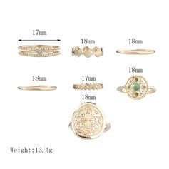 Wyjątkowy Znakomity Szykowny Stop Zestawy biżuterii Pierścionki Zestaw 6 par