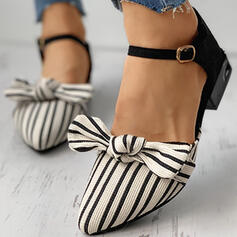 Women's Microfiber Flat Heel Flats With Stripe shoes
