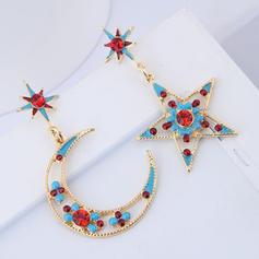 en forma de estrella Aleación Diamantes de imitación con Rhinestone De mujer Pendientes de la manera (Juego de 2)