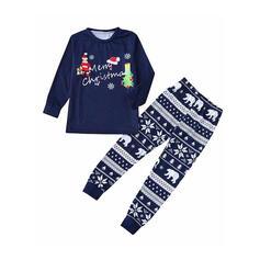 Noel Baba Ayı Literă Aile Eşleşen Noel Pijamaları