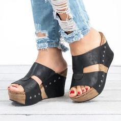 Pentru Femei PU Platforme Înalte Platforme cu Nit pantofi