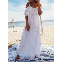 Enfärgad U-ringning Sexig Bohemiskt Strandklänningar Badkläder