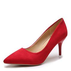 Női Szarvasbőr Tűsarok Magassarkú -Val Szolid szín cipő