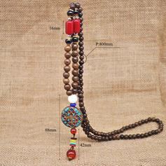 Unic Mărgele din lemn Femei colier de moda (Sold in a single piece)
