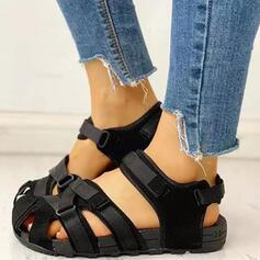 Pentru Femei Imitaţie de Piele Fară Toc Sandale Puţin decupat în faţă cu De la gât înafară Scai Culoare solida pantofi