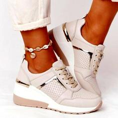 Квартиры Круглый носок кроссовки с Зашнуровать Цвет соединения обувь