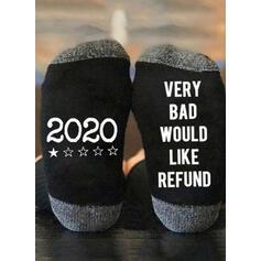 Letter/Print Breathable/Comfortable/Christmas/Crew Socks/2020/Unisex Socks